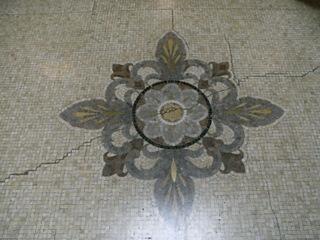 床のモザイク